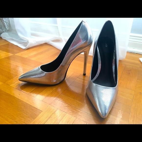 Aldo pumps, leather, silver, size 36 (6)